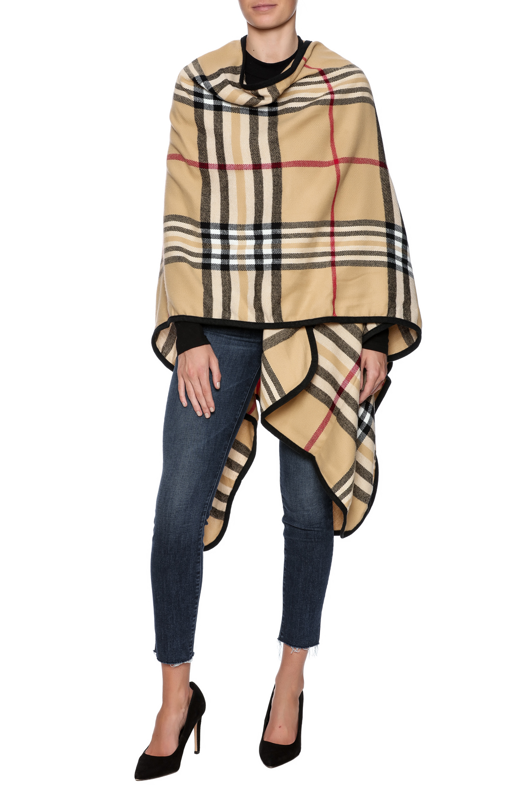 Life Is Beautiful Plaid Wrap - Front Full Image