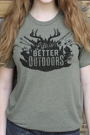 Mason Jar Label Life is Better Outdoors - Front cropped