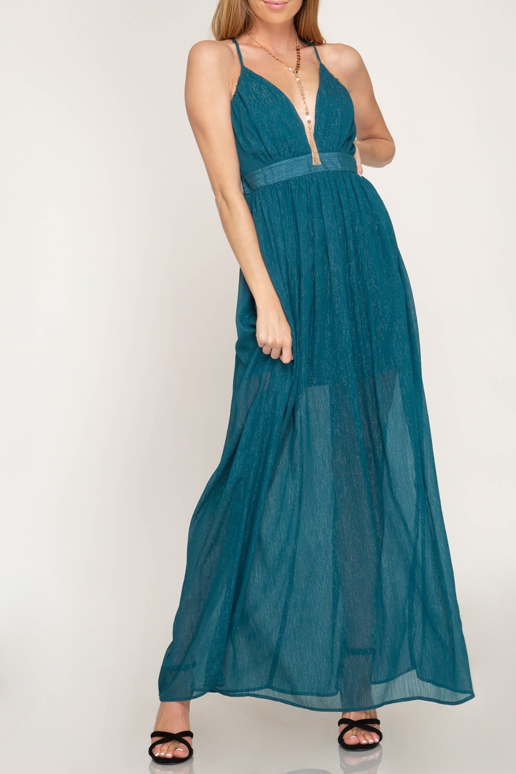 She + Sky Life Of The Party Maxi Dress - Main Image