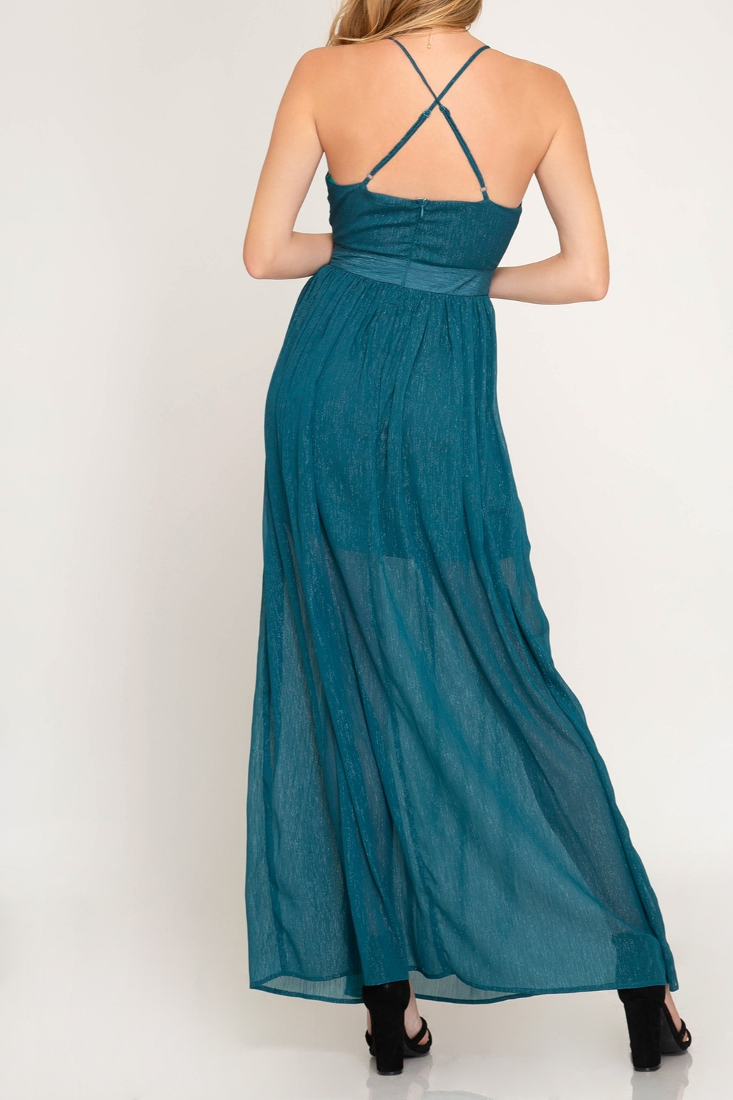 She + Sky Life Of The Party Maxi Dress - Front Full Image
