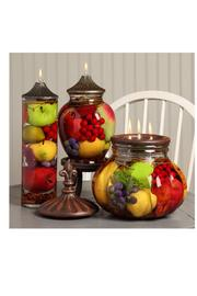 Lifetime Oil Candles Fruit Cylinder Candle - Front full body