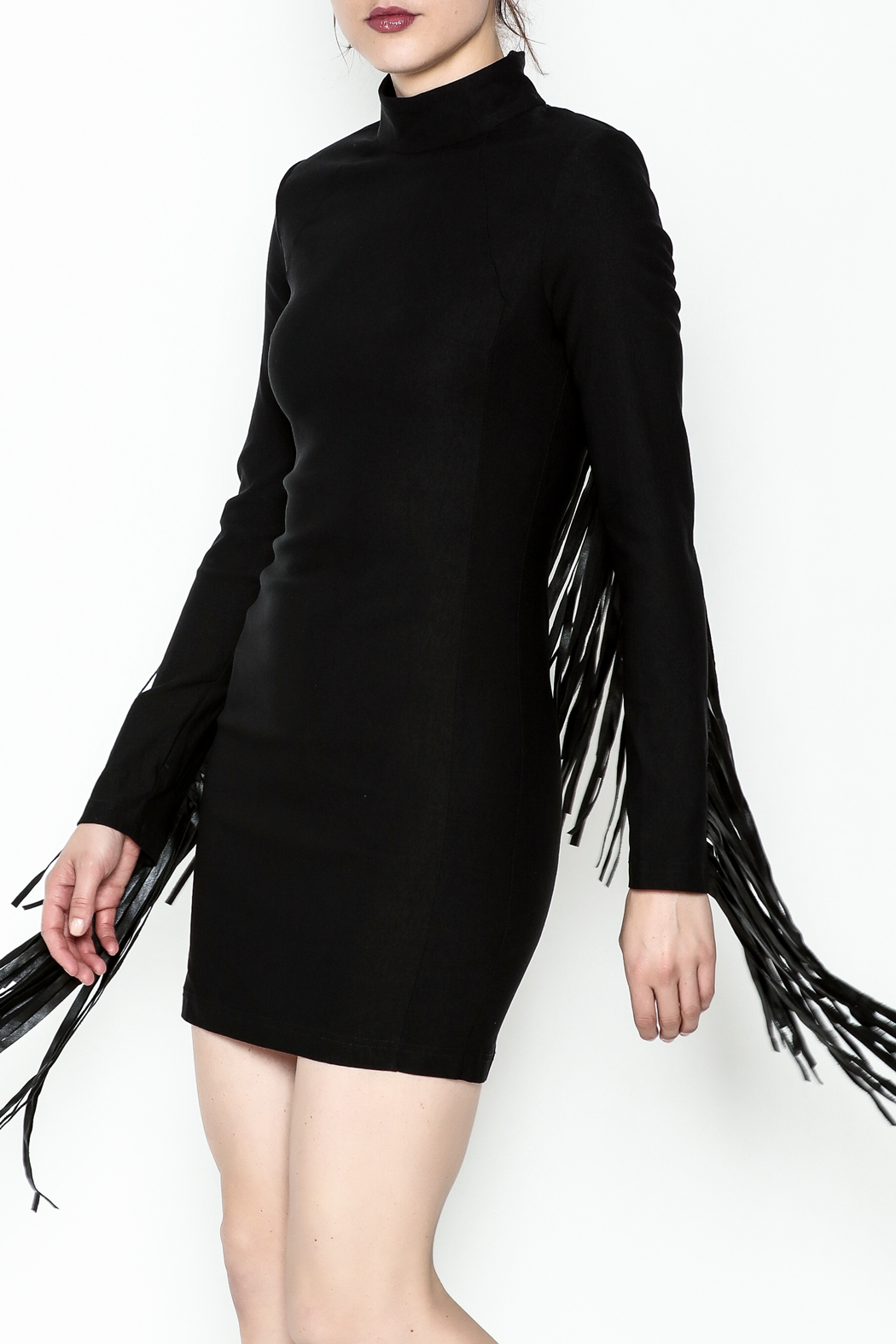 LIFTED Boutique Black Fringe Dress - Main Image