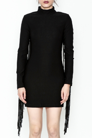 LIFTED Boutique Black Fringe Dress - Front full body