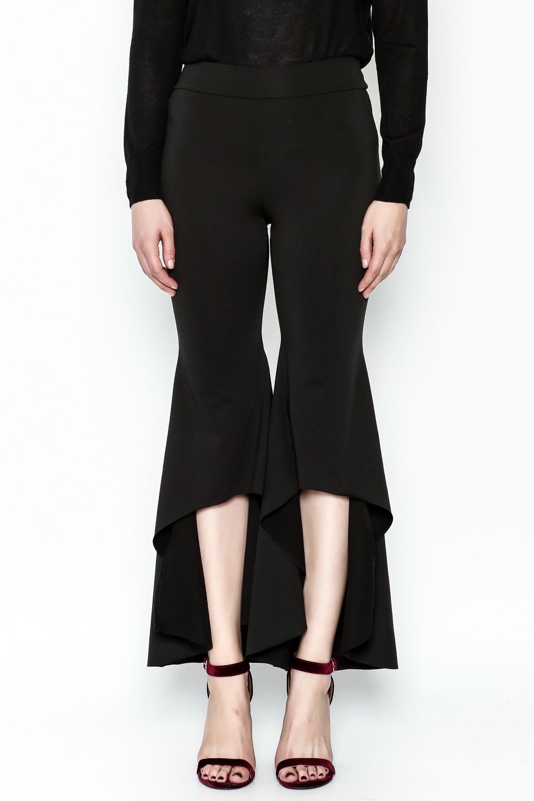 LIFTED Boutique Black High Low Pants - Front Full Image