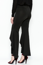 LIFTED Boutique Black High Low Pants - Back cropped