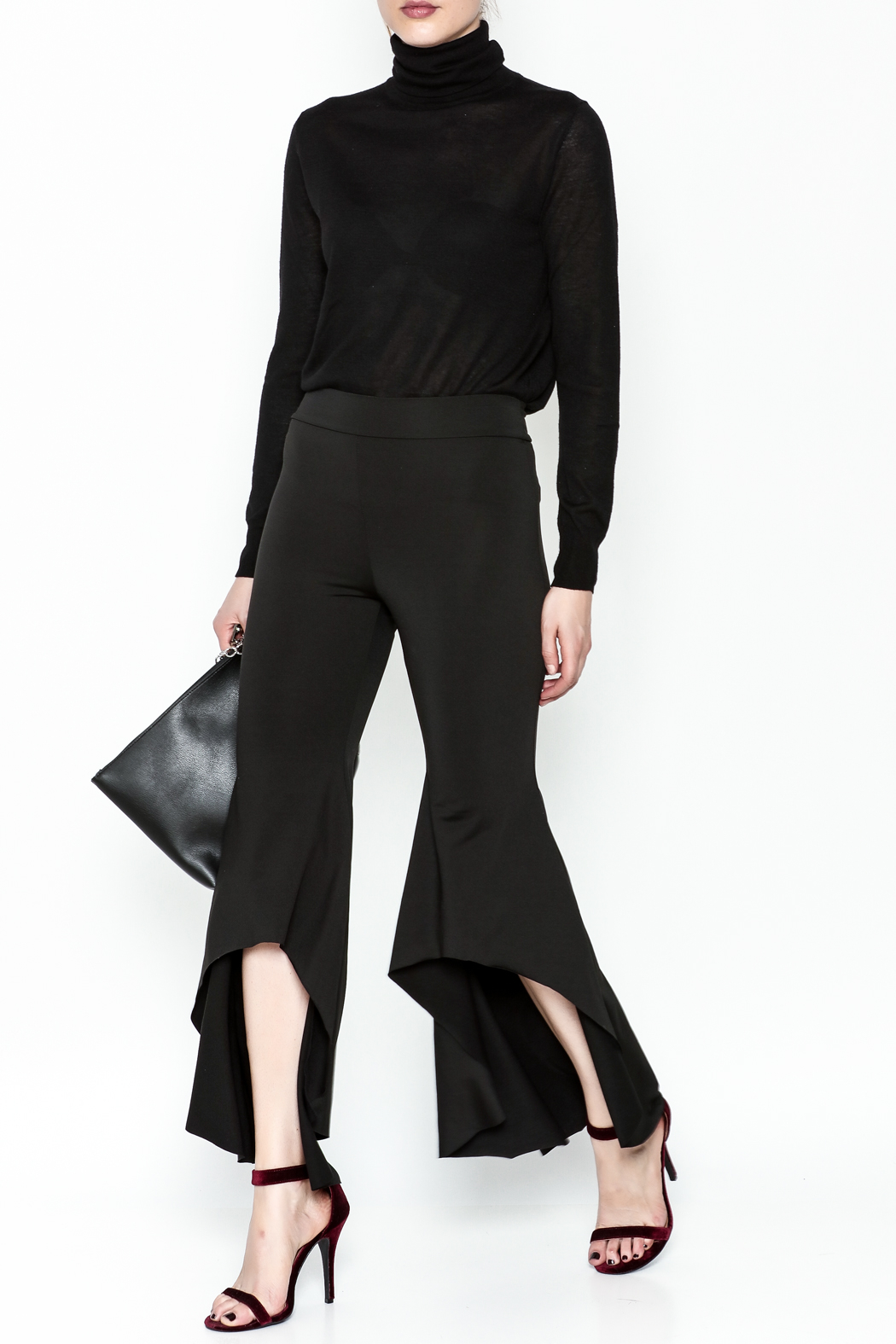 LIFTED Boutique Black High Low Pants - Side Cropped Image