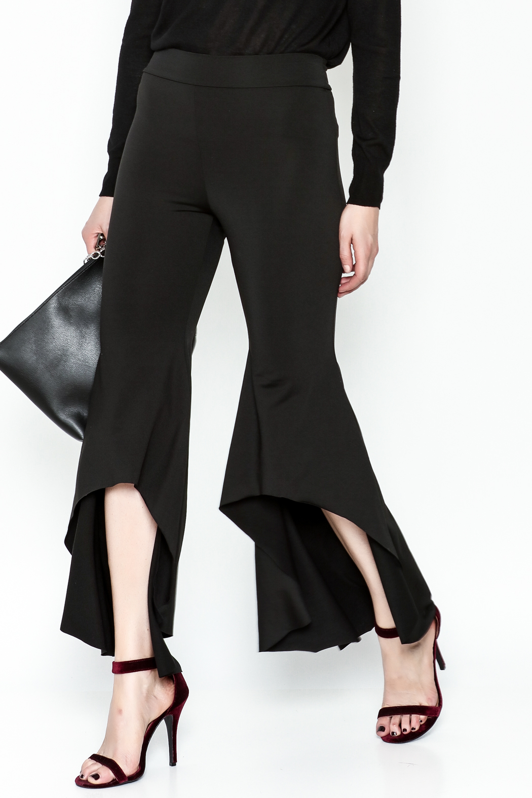 LIFTED Boutique Black High Low Pants - Main Image