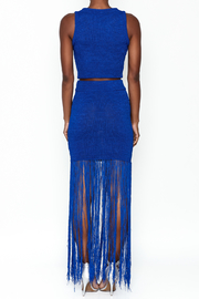 LIFTED Boutique Blue Knit Set - Back cropped