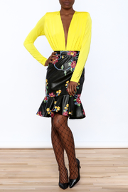LIFTED Boutique Faux Leather Skirt - Front full body