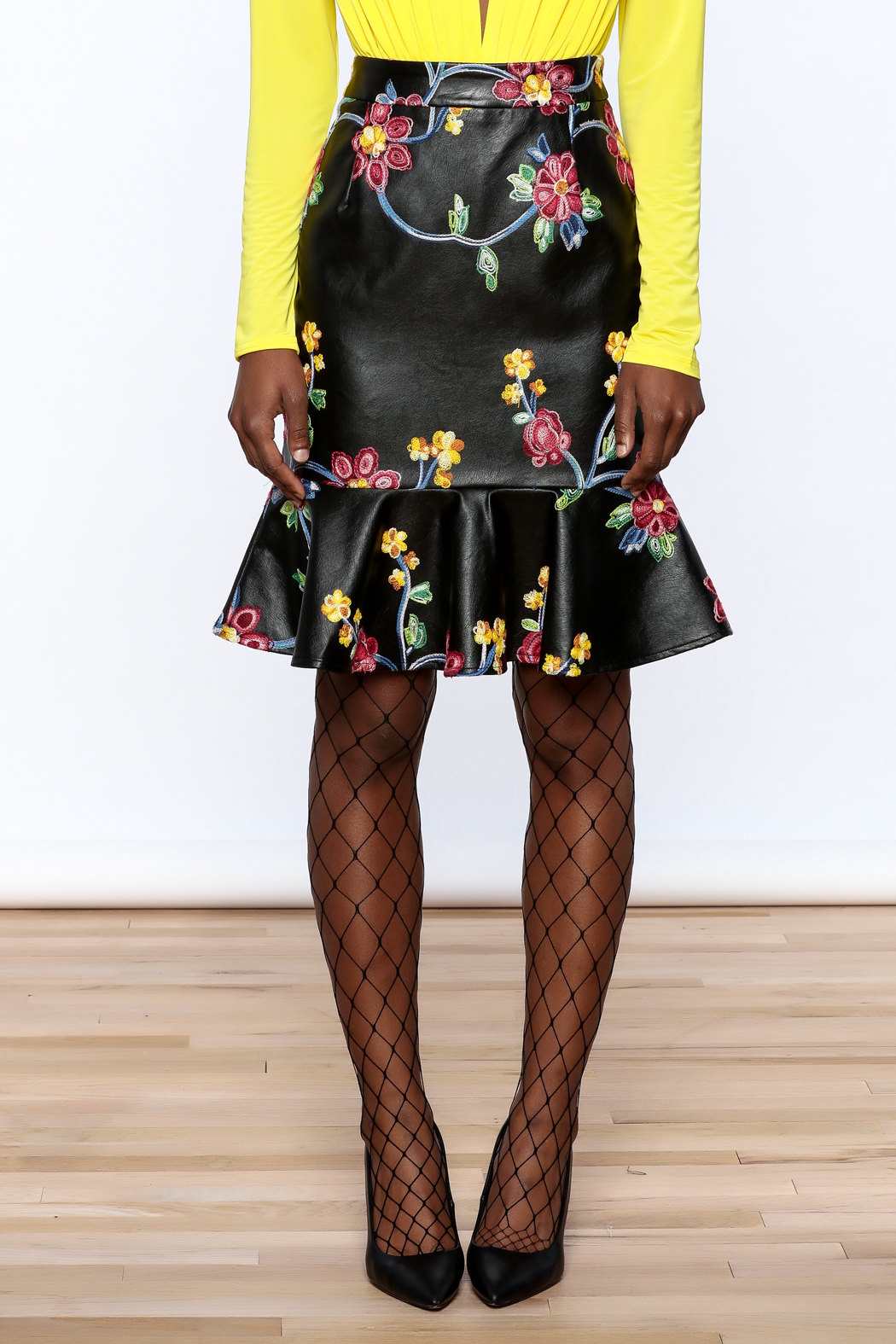 LIFTED Boutique Faux Leather Skirt - Side Cropped Image
