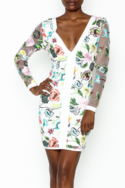 LIFTED Boutique Floral Embroidered Dress - Product Mini Image