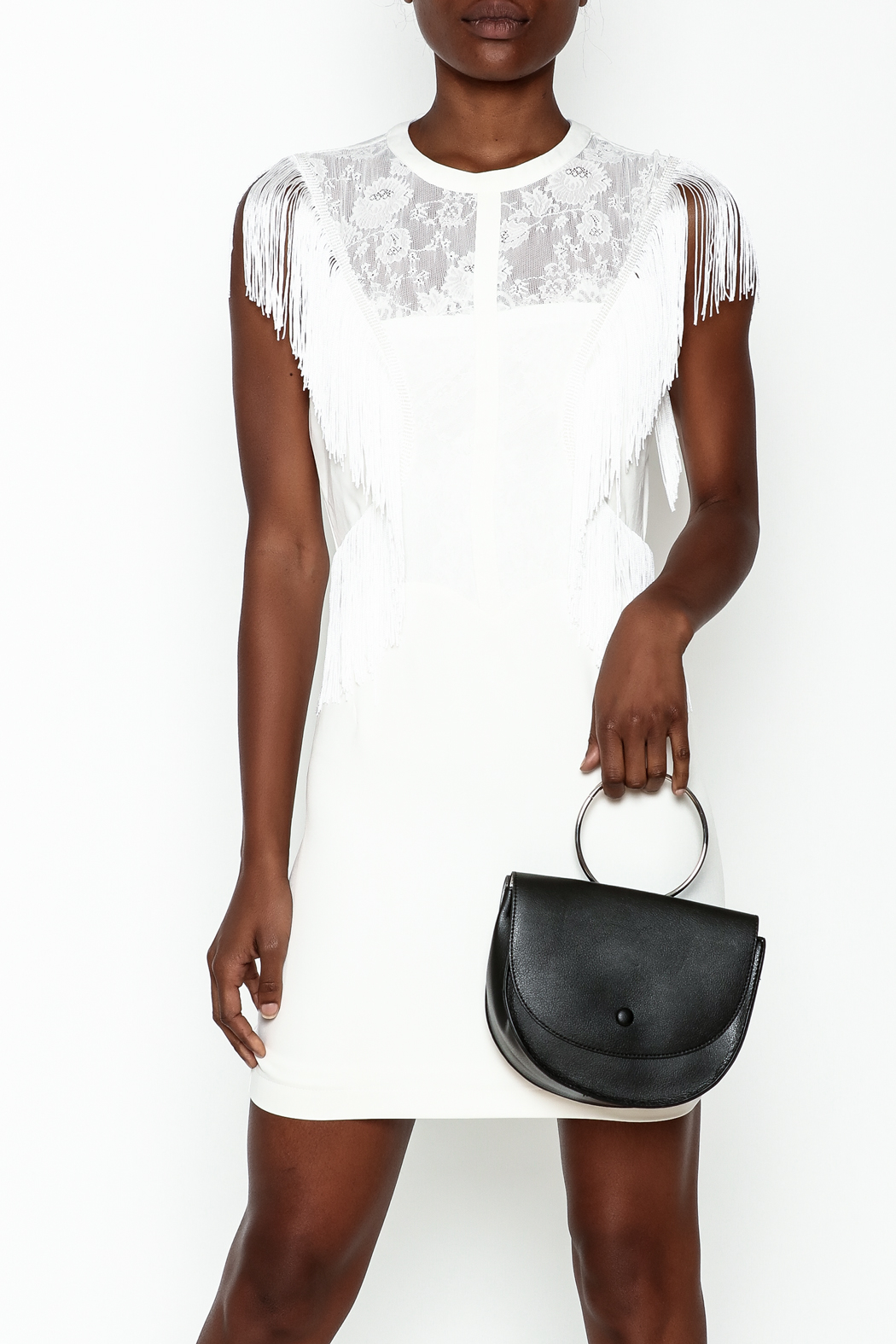 LIFTED Boutique Fringe And Lace Dress - Main Image