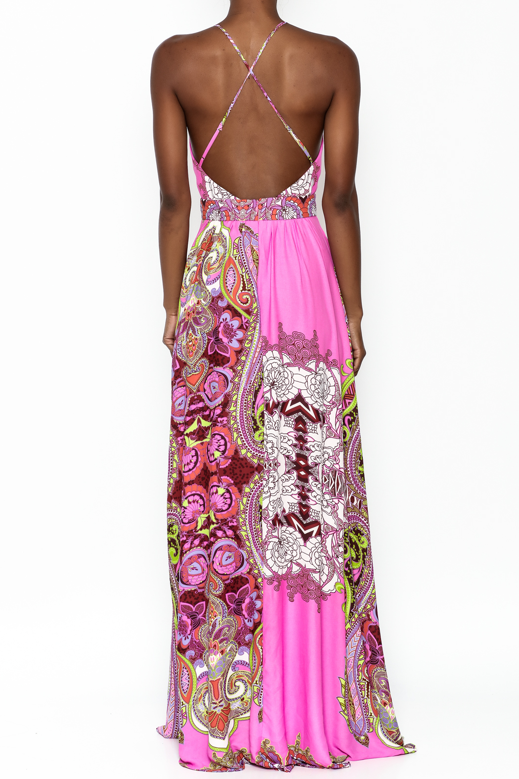 LIFTED Boutique Pink Maxi Dress - Back Cropped Image