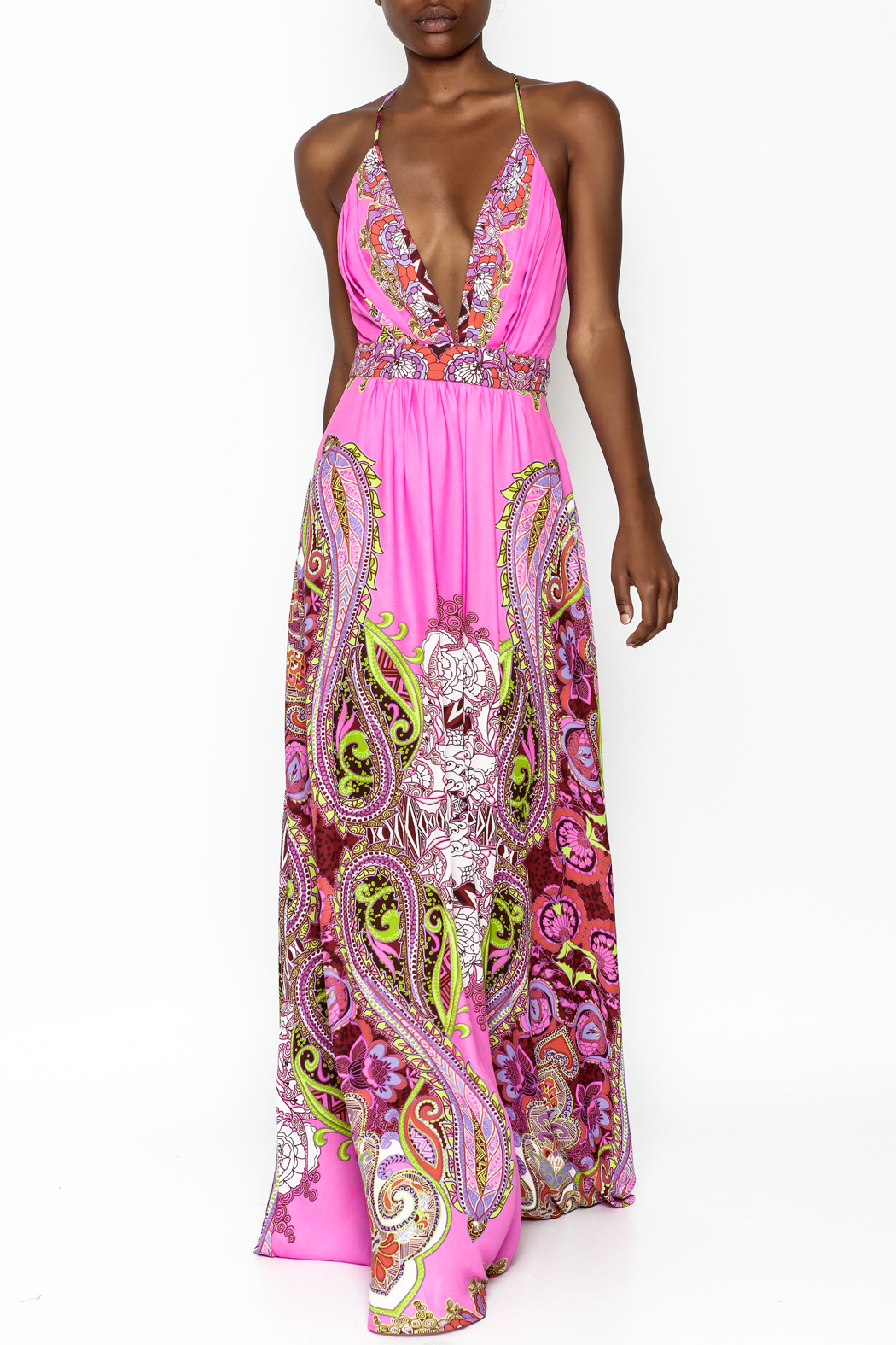 LIFTED Boutique Pink Maxi Dress - Main Image