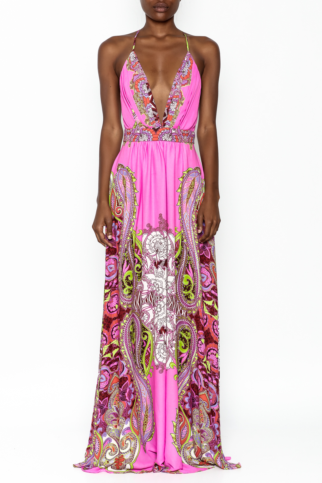 LIFTED Boutique Pink Maxi Dress - Front Full Image