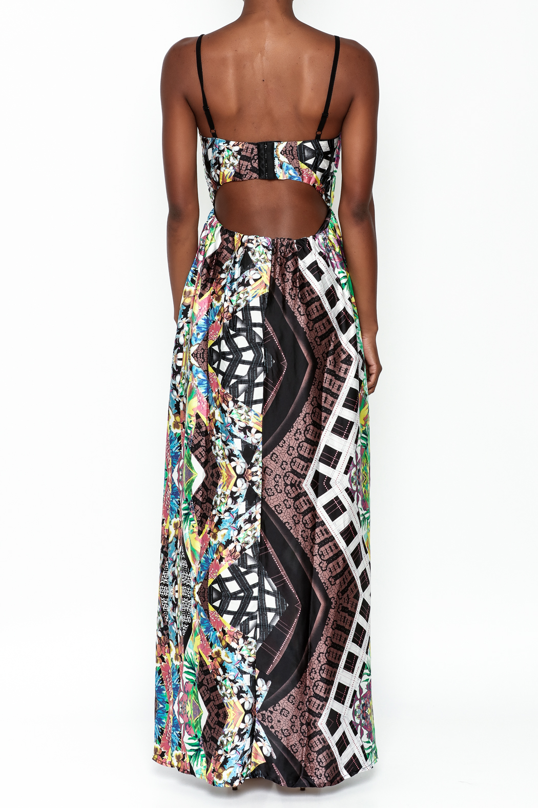 LIFTED Boutique Printed Maxi Dress - Back Cropped Image