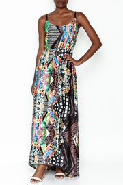 LIFTED Boutique Printed Maxi Dress - Front cropped