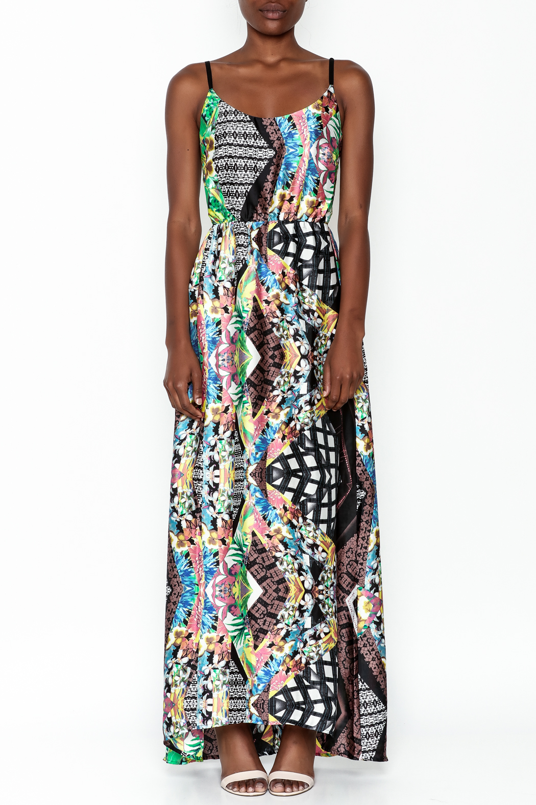 LIFTED Boutique Printed Maxi Dress - Front Full Image
