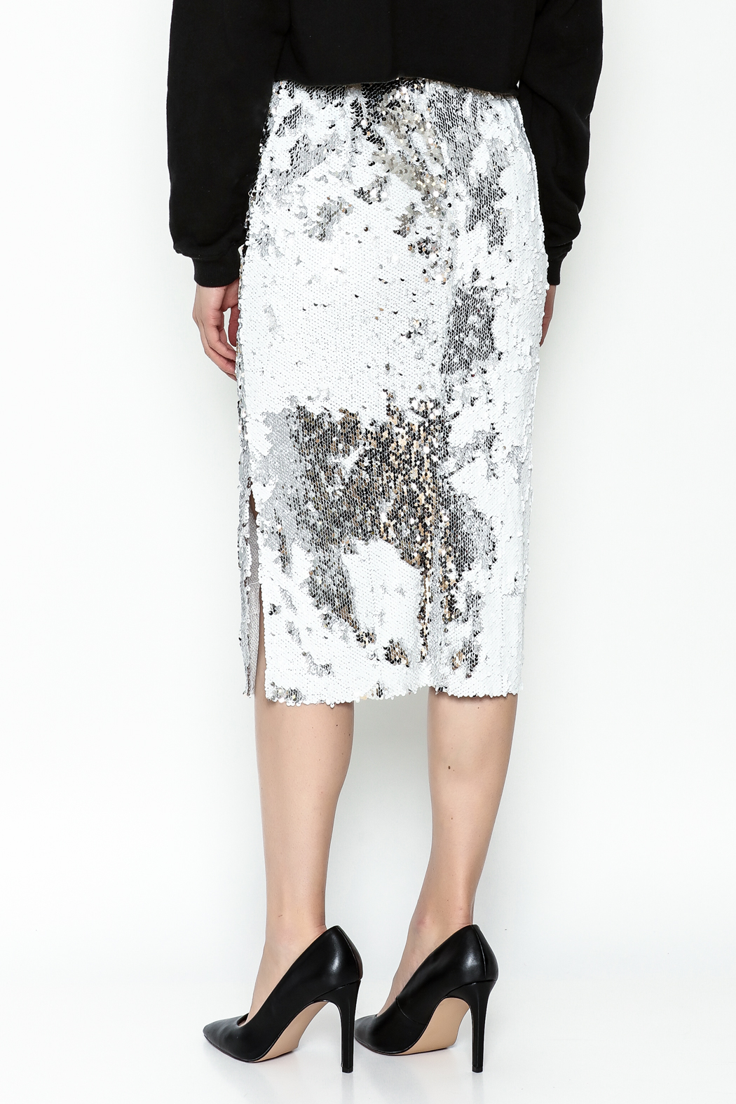 LIFTED Boutique Sequin Skirt - Back Cropped Image