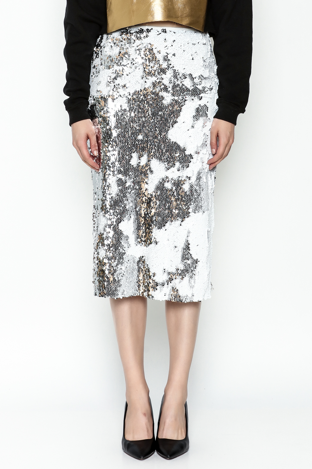 LIFTED Boutique Sequin Skirt - Front Full Image