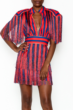 LIFTED Boutique Striped Fringe Dress - Product List Image