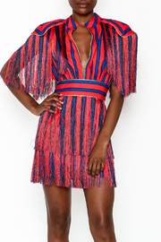 LIFTED Boutique Striped Fringe Dress - Product Mini Image
