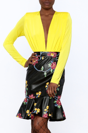 LIFTED Boutique Long Sleeve Yellow Bodysuit - Product Mini Image
