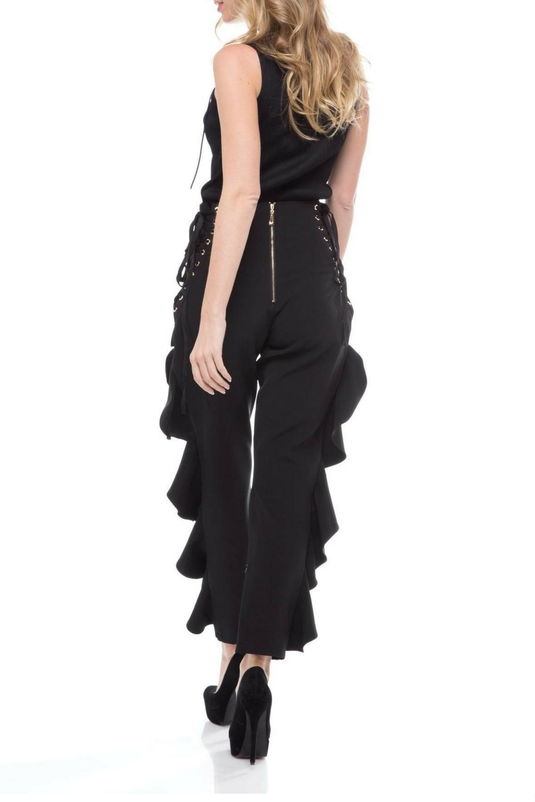 LIFTED Boutique Corset Ruffle Pants - Side Cropped Image