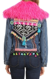 LIFTED Boutique Embroidered Denim Jacket - Product Mini Image