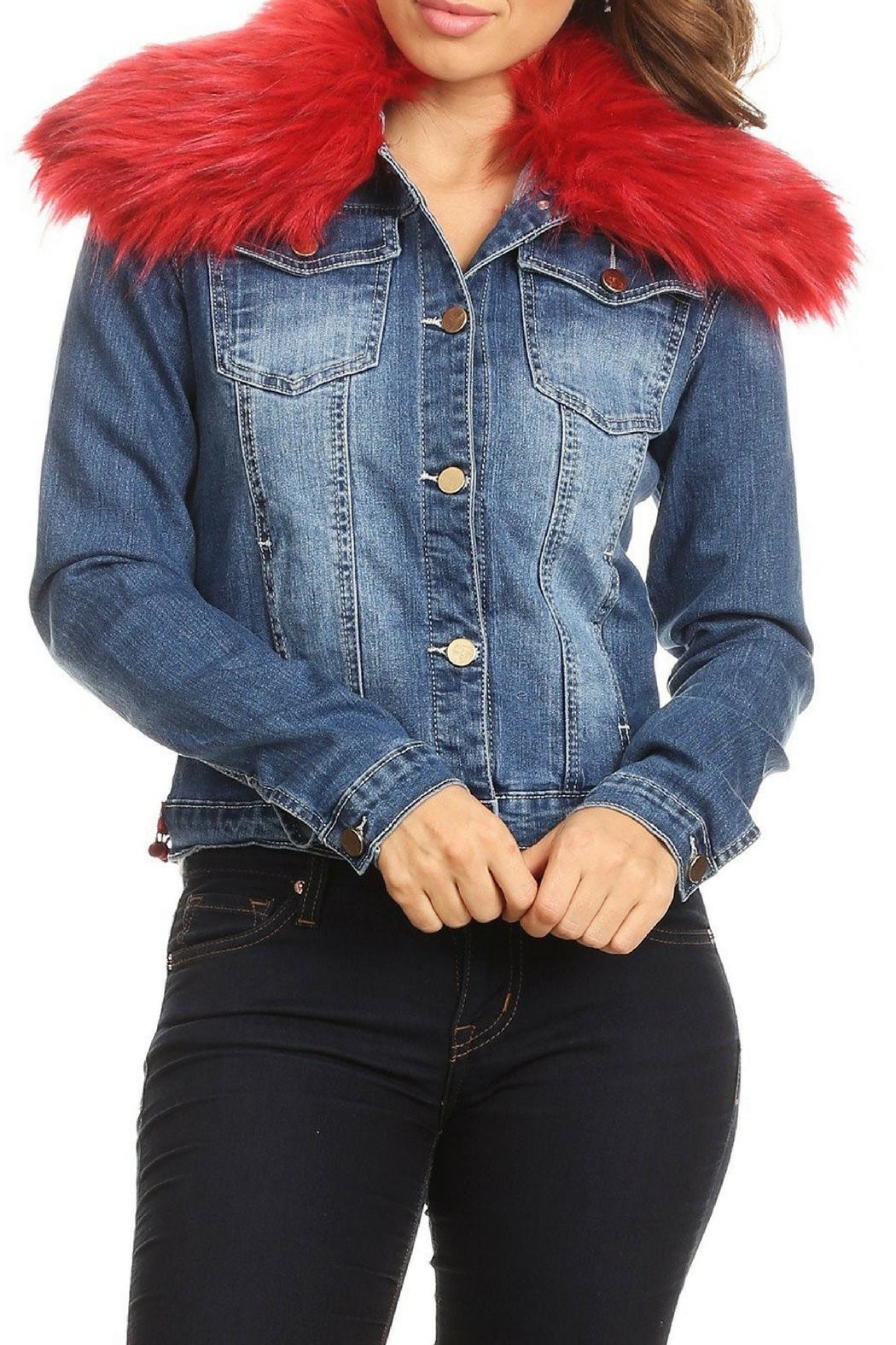 LIFTED Boutique Embroidered Denim Jacket - Front Full Image