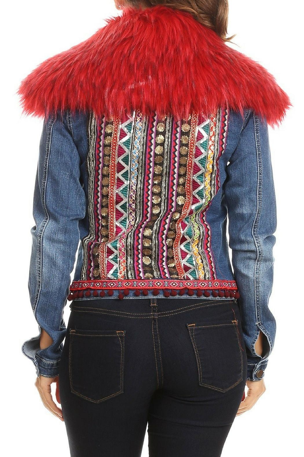 LIFTED Boutique Embroidered Denim Jacket - Main Image