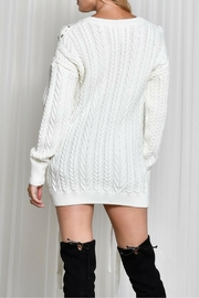 LIFTED Boutique Oversize Lace Up Sweater - Other