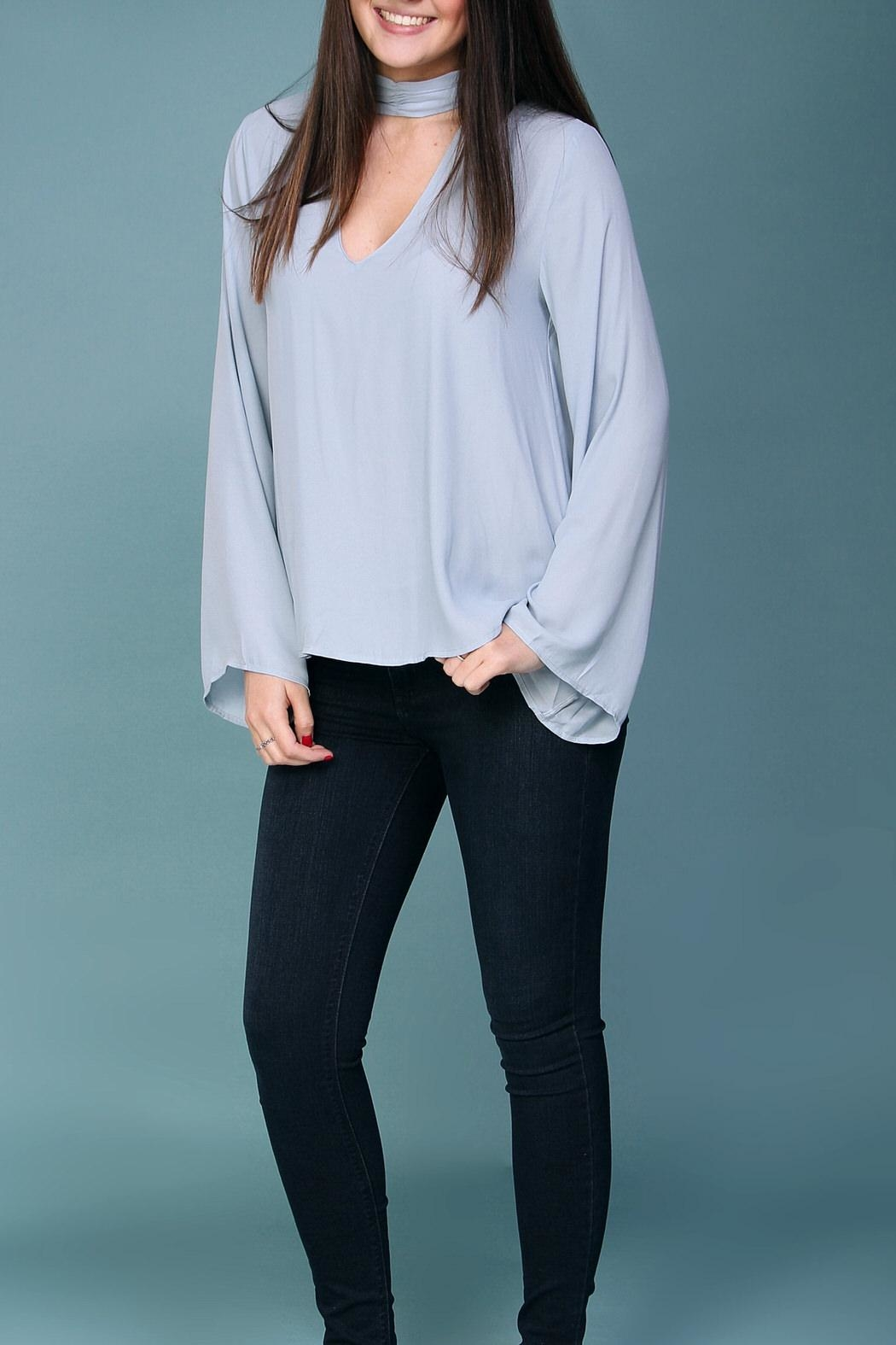 Lush Light Blue Blouse - Front Cropped Image
