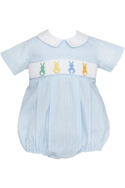 Petit Bebe Light-Blue-Cottontails Smocked Bubble - Front cropped