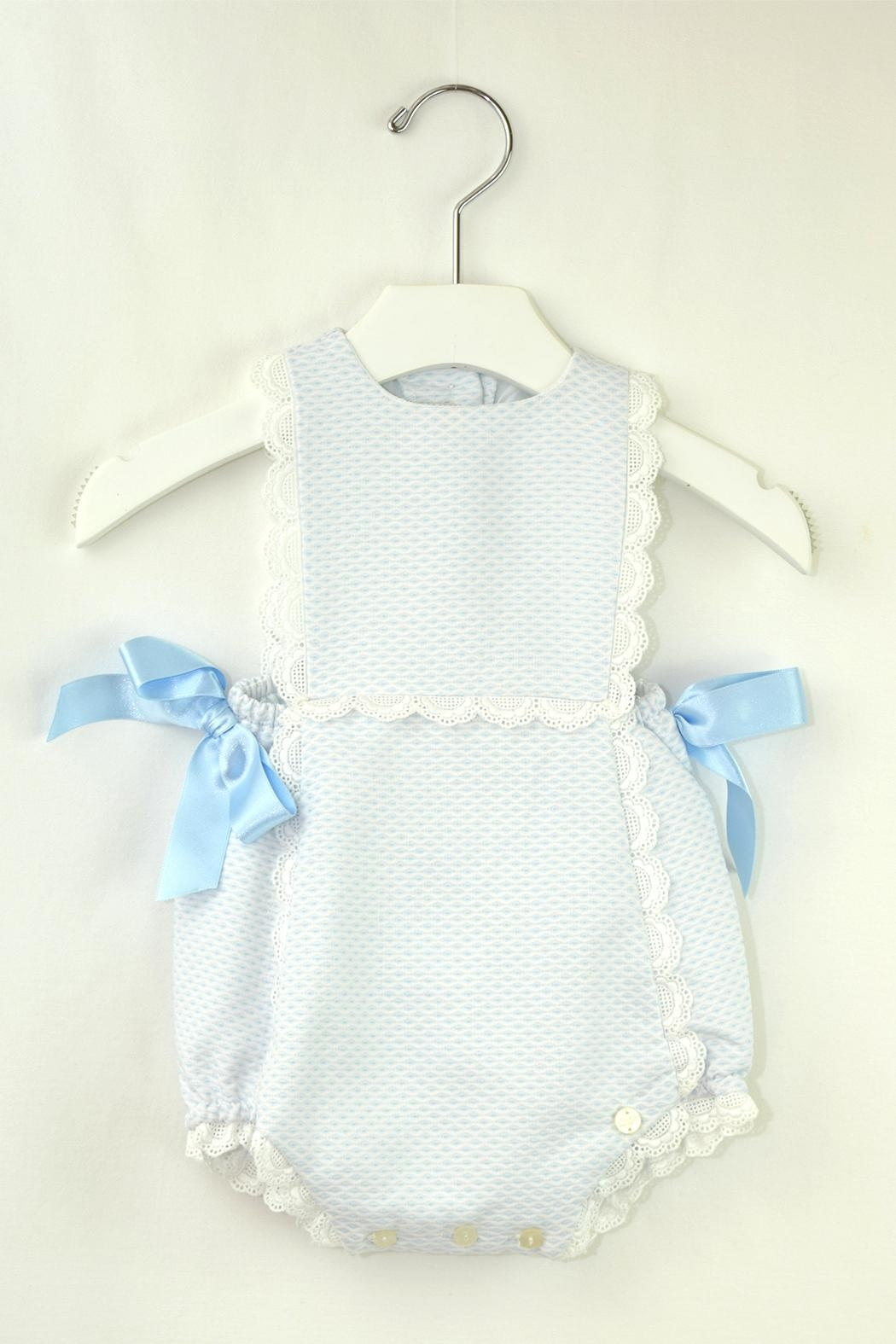 Dolce Petit Light Blue Onesie - Front Cropped Image