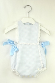 Dolce Petit Light Blue Onesie - Front cropped