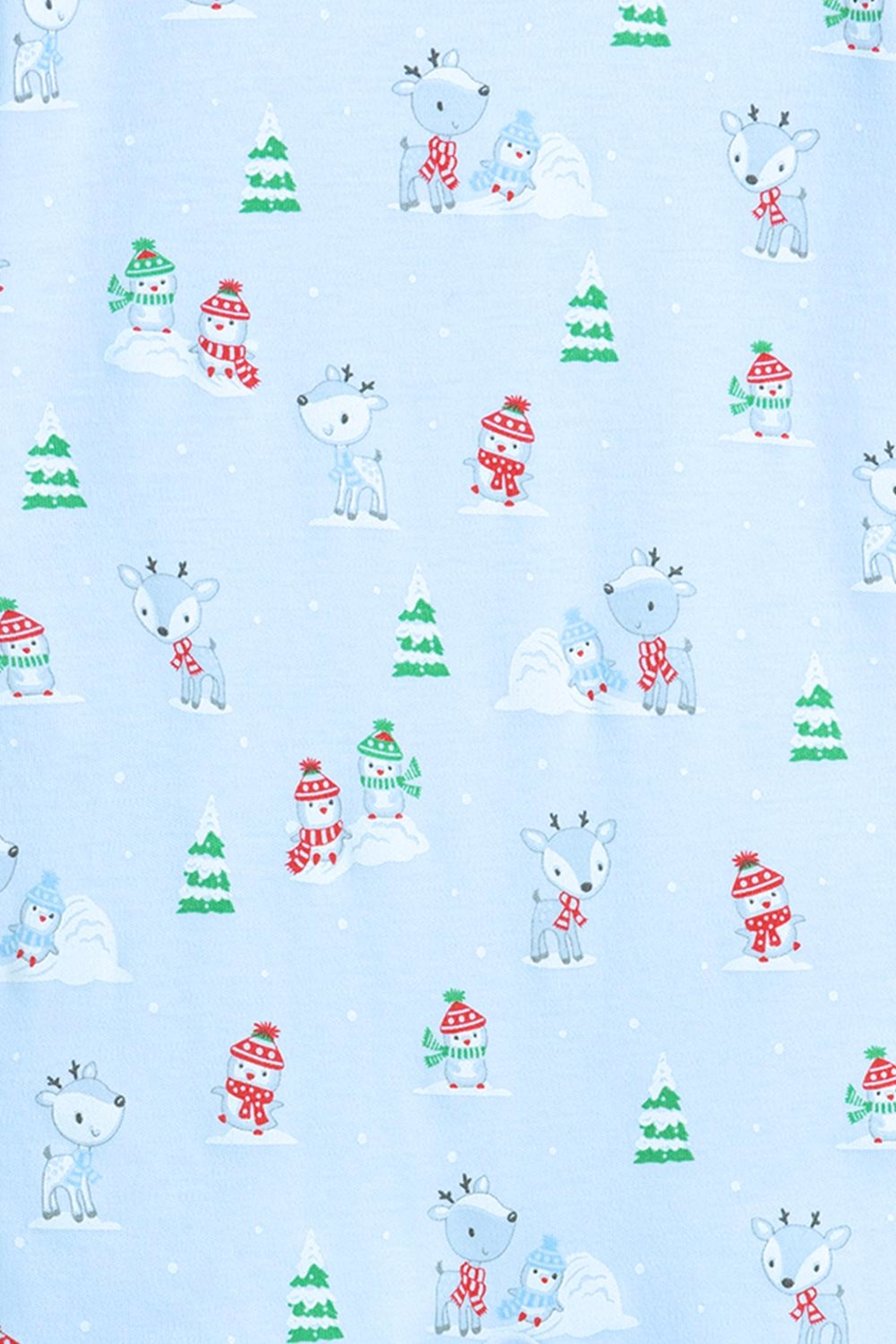 Kissy Kissy Light-Blue Snow-Day Zipper-Pajama - Side Cropped Image