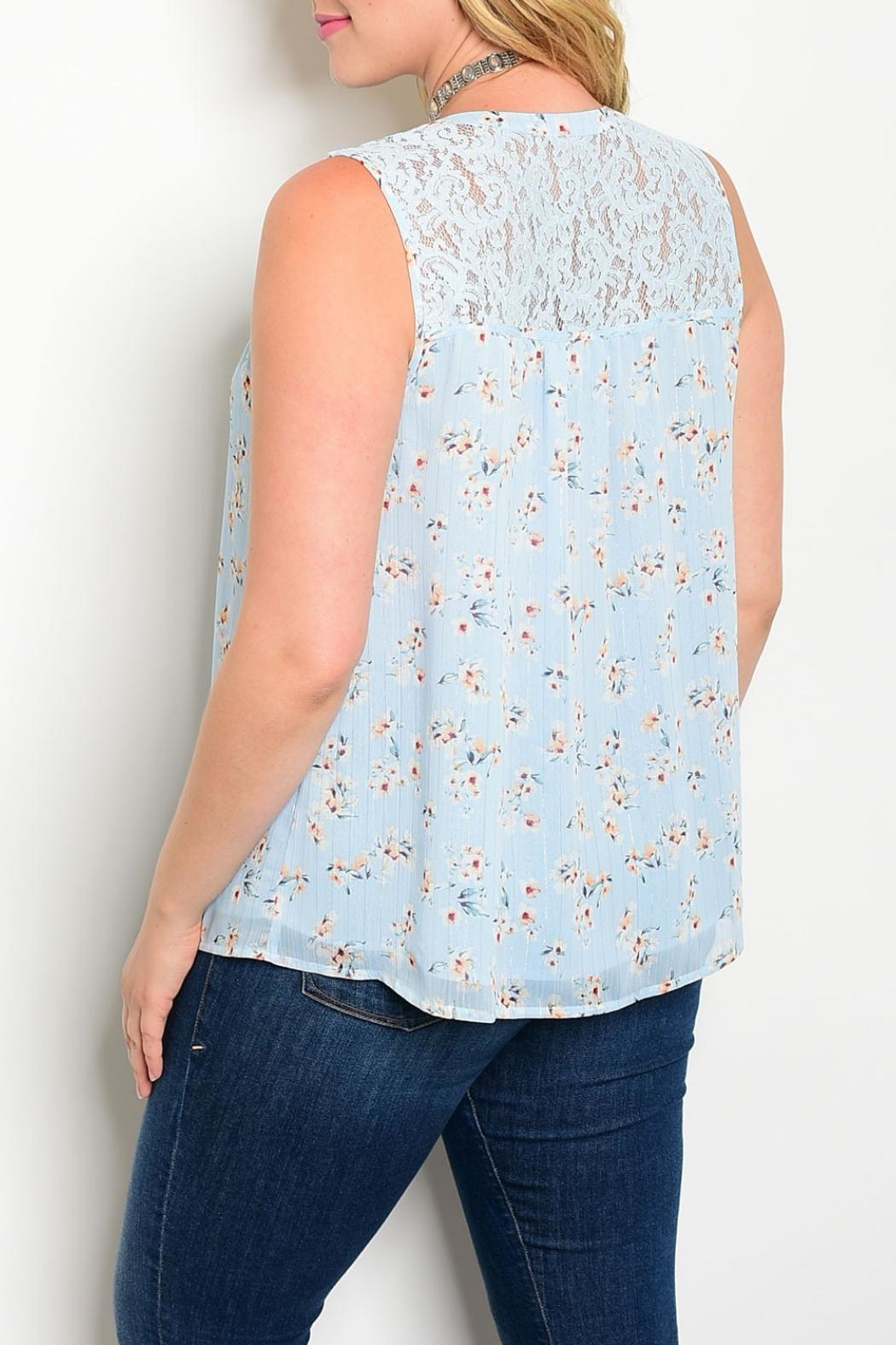 perch Light Blue Top - Front Full Image