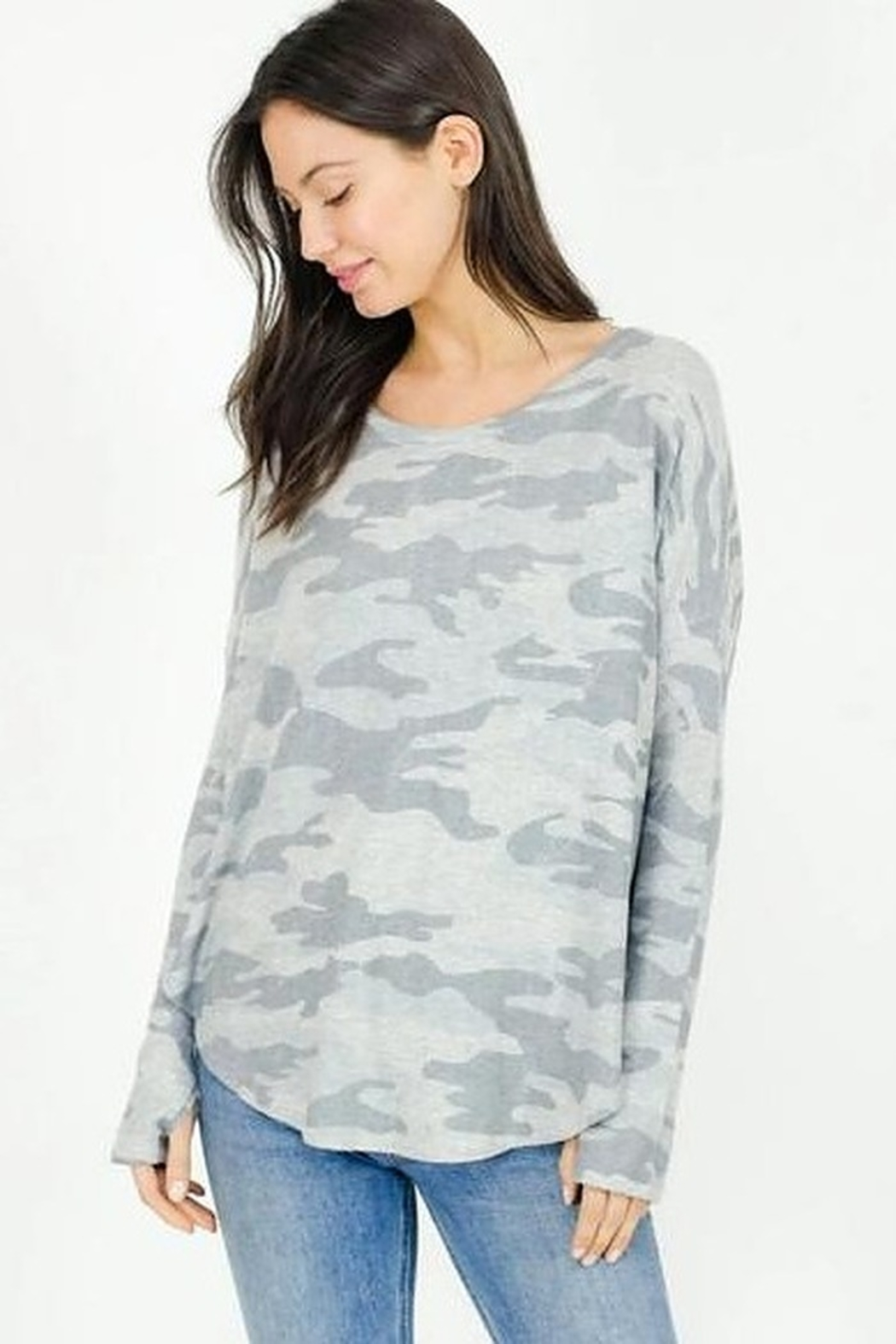 Six Fifty Light Camo Thumbhole Top - Main Image