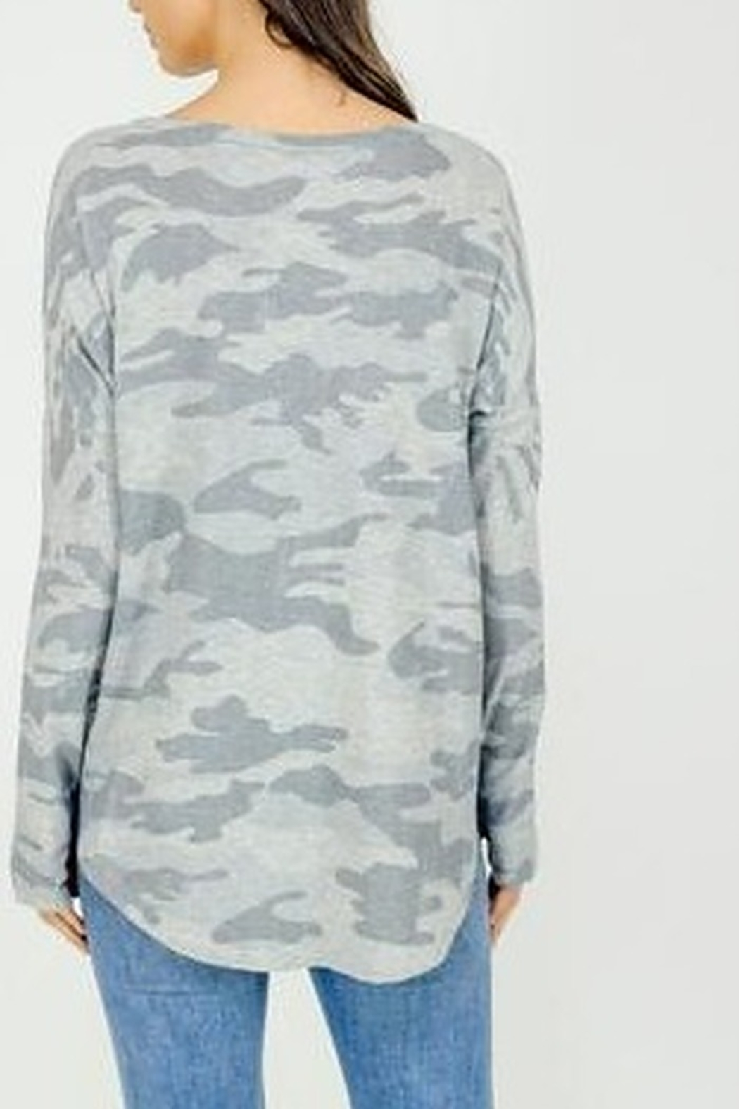 Six Fifty Light Camo Thumbhole Top - Front Full Image