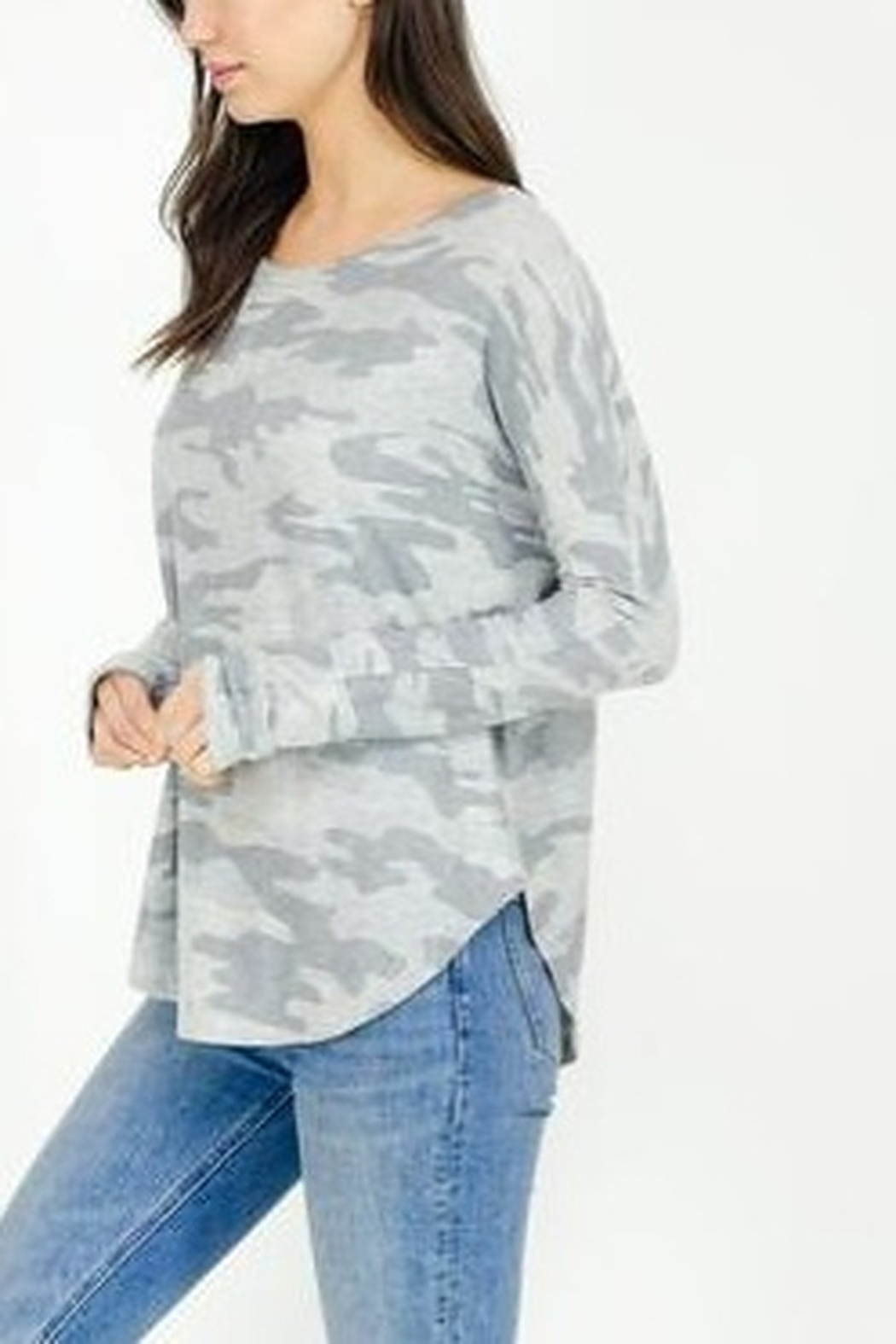 Six Fifty Light Camo Thumbhole Top - Side Cropped Image