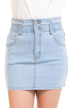 Shoptiques Product: Light Denim Mini-Skirt