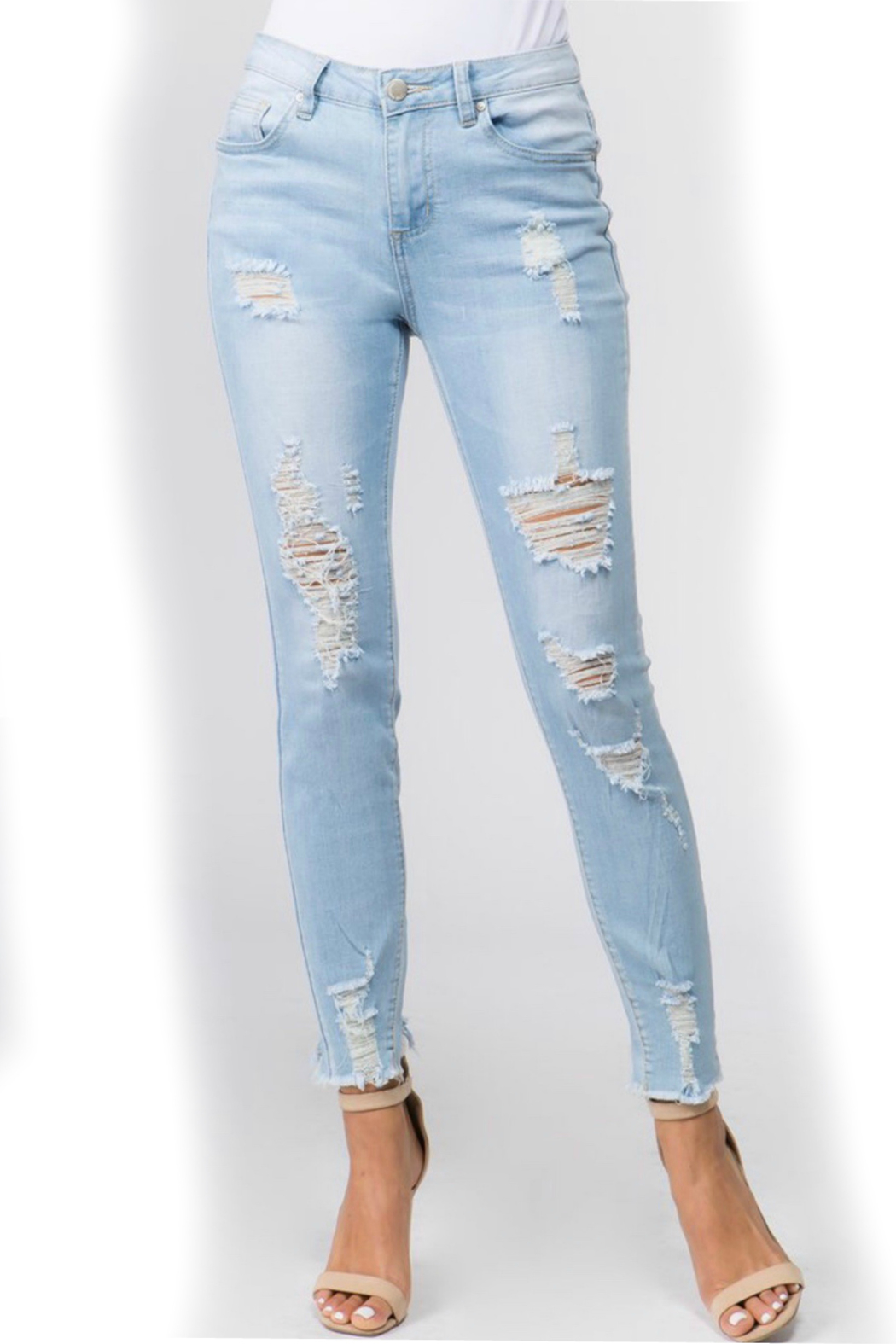 American Bazi Light distressed denim - Front Cropped Image