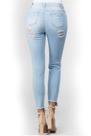 American Bazi Light distressed denim - Back cropped