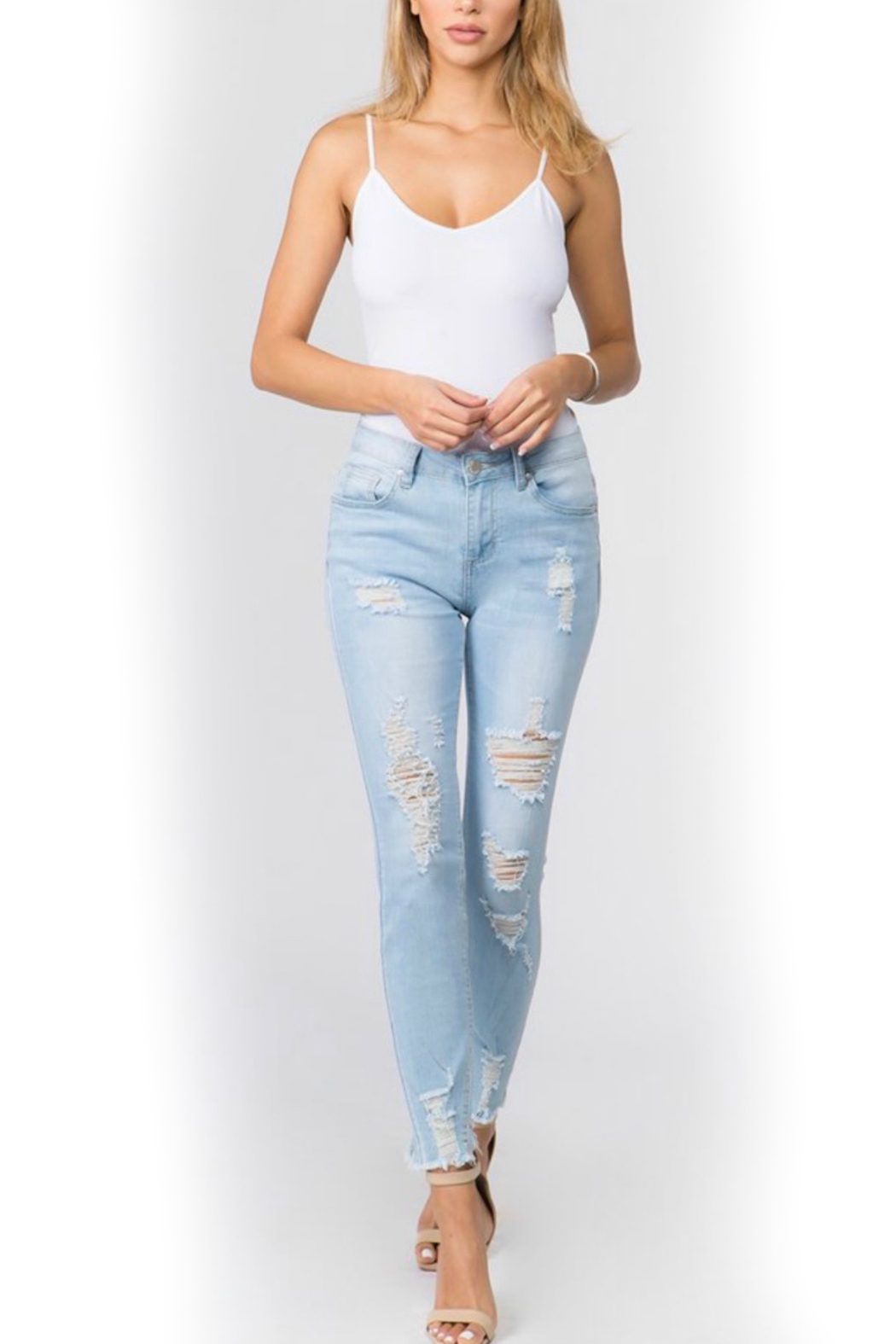 American Bazi Light distressed denim - Front Full Image