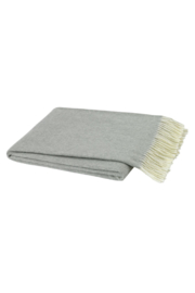 The Birds Nest LIGHT GRAY ITALIAN HERRINGBONE THROW - Product Mini Image