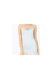 Zenana Light gray  or black caged front camisole - Front cropped