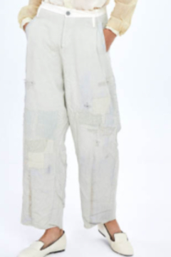 Umit Unal  Light Green Distressed Denim Pants - Product List Image