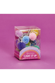 Cupcakes and Cartwheels Light It Up 20 Pom Pom LED String Lights - Front cropped