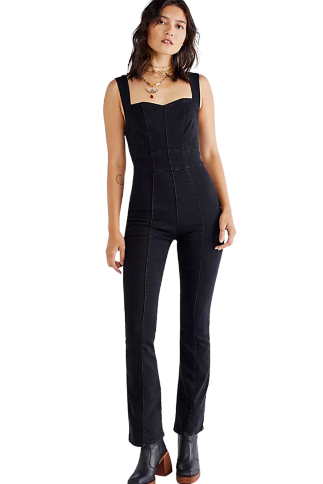 Free People  Light My Fire Jumpsuit - Front Cropped Image